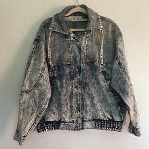 80's Vintage Acid Wash Oversize Denim Jean Jacket